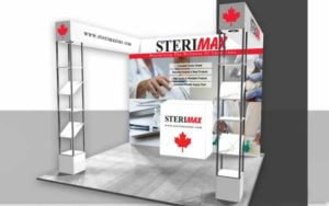 Hypitch Marketing Sterimax Trade Show Booth