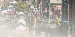 View of Street during Taste of the Kingsway Festival